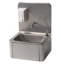 Diamond Handwasbak RVS met zeepverdeler 500ml | 430x340x560(h)mm