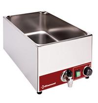Diamond Elektrische bain marie tafelmodel   1,5kW/h   Met aftapkraan   330x530x240(h)mm