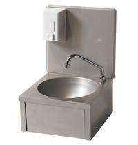 Diamond Handwasbak RVS met zeepverdeler 500ml | 330x330x500(h)mm