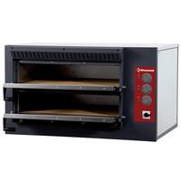 Diamond Pizza oven elektrisch | 4+4 25Øcm | Bodem in vuurvaste stenen | 7,5kW | 920x760x530(h)mm