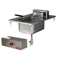 Diamond Elektrische friteuse inbouw | 1 kuip van 10 liter | 7,5 kW/h | 400x600mm