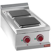 Diamond Kookplaat elektrisch met 2 vierkante platen Top | 2,6 kW/h | 400x700x250/320(h)mm