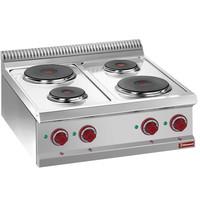 Diamond Kookplaat elektrisch 4 ronde platen Top | 2x 1,5 kW/h  & 2x 2,6 kW/h | 700x700x250/320(h)mm