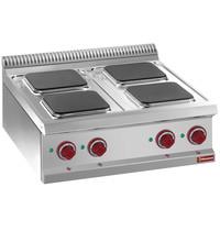 Diamond Kookplaat elektrisch met 4 vierkante platen Top | 10,4 kW/h | 700x700x250/320(h)mm