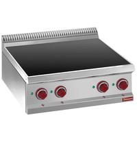 Diamond Elektrische vitrokeramische plaat met 4 warme zones Top | 2x 1,8 kW/h & 2x 2,4 kW/h | 700x700x250/320(h)mm