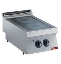Diamond Elektrische vitrokeramische kookplaat 2 zones Top | 2x 2,2 kW/h | 400x700x250/320(h)mm