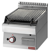 Diamond Lavasteengrill - 1/2 module bakrooster in gietijzer 'double face | Kcal. 6450 | 400x700x280(h)mm