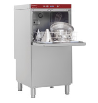 Diamond Horeca pottenwasser RVS | 500x600mm mand + Break Tank | 400V | 600x695x1280(h)mm