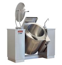 Diamond Kookketel kantelbaar gas met indirecte verwarming | 100 liter | 0,2 kW/h | 1600x850x1050(h)mm