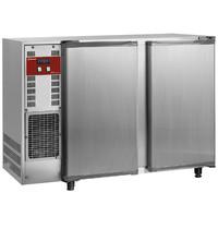 Diamond Flessenkoeler RVS 375L | 2 deurs | 230V | Geventileerd | 1455x565x890/905(h)mm