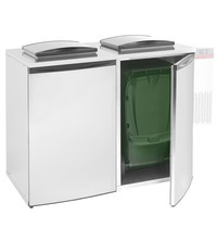 Diamond Afval koeler dubbel zonder groep   1465x870x1290(h)mm