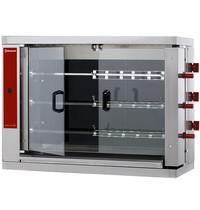 Diamond Kippenspit Vitroceramisch   3 spitten elk voor 6 kippen   400V   Elektrisch   1098x480x820(h)mm