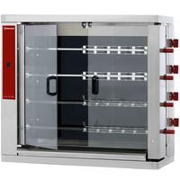 Diamond Kippenspit Vitroceramisch   4 spitten elk voor 6 kippen   400V   Elektrisch   1098x480x1000(h)mm