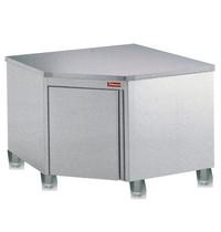 Diamond Hoekwerktafelkast  90°   Draai of schuifdeur   1000x1000x880/900(h)mm
