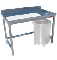 Diamond Wand voorbereidingstafel met achteropstand voor vlees/vis | Snijblad 1330x230x20(h)mm | 1800x700x880/900(h)mm