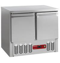 Diamond Compacte koeltafel 2 deuren 1/1 GN 240L | 900x700x870/900(h)mm