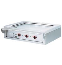 Diamond Teppanyaki elektrische plaat 3 zones | 3x 4,7 kW/h | 1440x770x450(h)mm