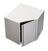 Diamond Muurhoekkast  90° met klapdeur   700x700x600(h)mm