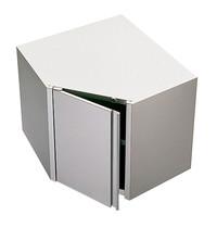Diamond Muurhoekkast  90°  met klapdeur   800x800x600(h)mm