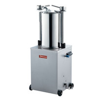 Diamond Hydraulische verticale worstenvuller in RVS 25 liter, op wielen | Cilinder Ø 200x495mm | 565x450x1160(h)mm