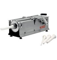 Diamond Worstenvuller RVS 7 liter| Cilinder in RVS Ø 160x320mm | 2 versnellingen | 660x220x280(h)mm