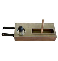 "Diamond Kit van 2 houten spatels 2x ""T"" vorm | Reinigingstempel | 390x160x85(h)mm"