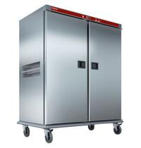 Diamond Verwarmde wagen voor maaltijden met gecontroleerde bevochtiging | 40x GN 2/1 | 3,5 kW/h | 1525x935x1885(h)mm