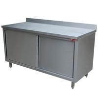 Diamond RVS werktafel met schuifdeuren | 600mm diep | 880mm hoog | Diamond