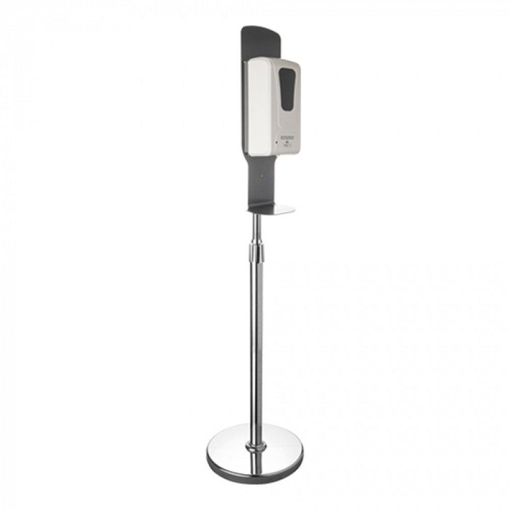 Handdisinfectie dispenser op standaard 1L | Infrarood sensor | 4x AA | 150(h)cm