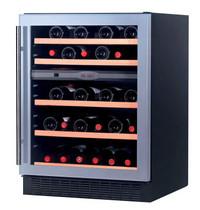 TopCold Wijnkoelkast | Zwart/Grijs | 55x 75cl | 2 Zones | +5°C/+18°C | Geventileerd | 615x555x835(h)mm