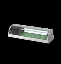 Hoshizaki Sushivitrine | RVS/Zwart | 42L | +3°C/+5°C | Statisch | Compressor Rechts | 1200x345x270(h)mm