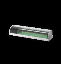Hoshizaki Sushivitrine | RVS/Zwart | 57L | +3°C/+5°C | Statisch | Compressor Rechts | 1500x345x270(h)mm