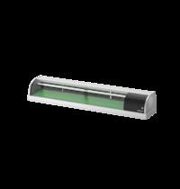 Hoshizaki Sushivitrine | RVS/Zwart | 72L | +3°C/+5°C | Statisch | Compressor Links | 1800x345x270(h)mm