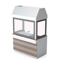 UNNINOX Houtskool grill   5 lades   Met filterkap   1360x790x2150(h)mm