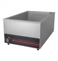 CaterChef Bain marie GN1/1x1-150mm |1,2kW | Met ingebouwd element | 354x599x255(h)mm