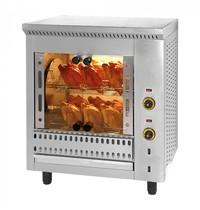 MACH Kippengrill   Voor ca. 16 kippen   400V   Elektrisch   825x640x980(h)mm