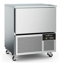 Ecofrost Blastschiller RVS | 5x 1/1 GN of 600x400mm | Geforceerd | 230V | 800x800x1000(h)mm