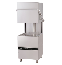 Gastro-Inox Doorschuifvaatwasser | Mand 500x500mm | Afvoerpomp | Zeeppomp | Naglanspomp | 750x880x1830(h)mm