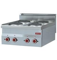 Diamond Fornuis elektrisch 4 kookplaten Top   8 kW/h   600x600x280/400(h)mm