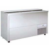 Coreco Koelkist met Werkblad   RVS   420L   +2°C/+8°C (Statisch + Ventilator)   3 Schuifdeksels (Dicht)   1500x550x850(h)mm