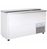 Coreco Koelkist met Werkblad   Wit   420L   +2°C/+8°C (Statisch + Ventilator)   3 Schuifdeksels (Dicht)   1500x550x850(h)mm