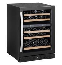 CombiSteel Wijnkoelkast 165L | 43-44 flessen | Met glas deur + 5 roosters | 230V | Statisch met ventilator | 595x655x860(h)mm
