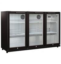 Husky Barkoelkast | 330L | Zwart | 0°C/+10°C | Geforceerd |1350x520x870(h)mm