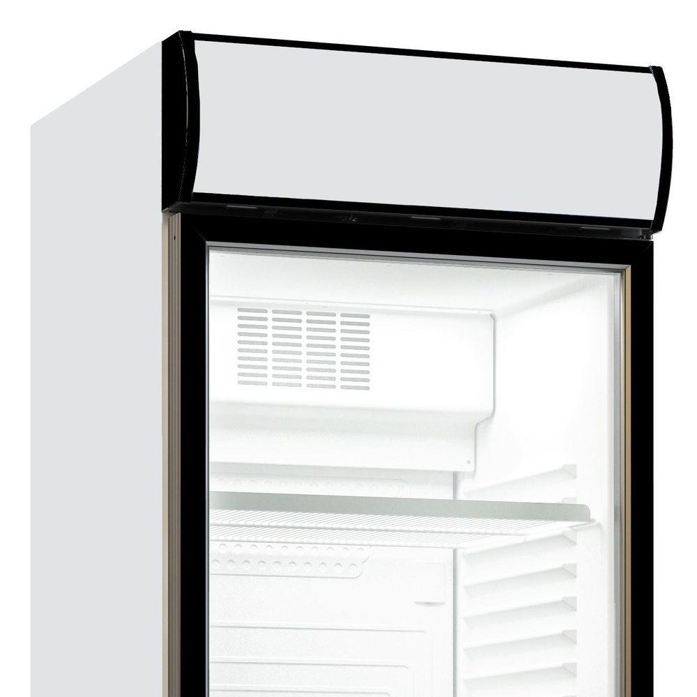 Koelkast | 382L | Zwart/Wit | 0°C/+10°C | Statisch (Ventilator) | Scharnier Rechts | 595x650x2000(h)mm