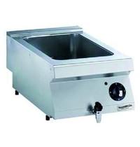 CombiSteel Pro 700 elektrische bain marie | 1,5 kW/h | Met aftapkraan | 400x700x250(h)mm