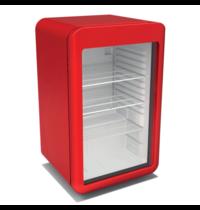 TopCold Koelkast   Rood   110L   +4°C/+10°C   Geventileerd   4 Schappen   495x525x825(h)mm