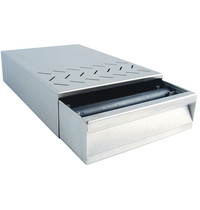 Diamond Afkloplade RVS | 250x375x85(h)mm