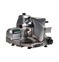 DEKO Holland Vlees-/Kaassnijmachine   Recht   Teflon Mes Ø296mm   Snijdikte 0-14mm   1400 RPM   Interne Slijp-Unit   180W   625x585x460(h)mm