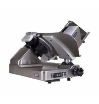 DEKO Holland Vlees-/Kaassnijmachine   Schuin   Teflon Mes Ø318mm   Snijdikte 0-32mm   1400 RPM   Interne Slijp-Unit   725x550x585(h)mm