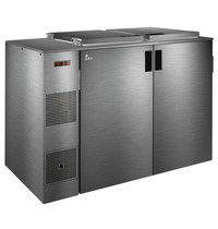 TopCold Afvalkoeler   RVS   Met Koelunit   Dubbel   240L-Containers   +2°C/+8°C   360W   1540x790x1000(h)mm